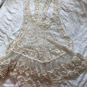 Tops - Boutique lace overlay